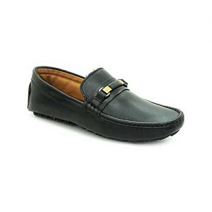 Bata Black Leather Tpr Close Casual Shoes For Men BS029