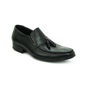 Bata Black Leather Tpr Close Casual Shoes For Men BS035