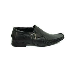 Bata Black Synthetic Leather Shoes For Men - 8546542 BS031
