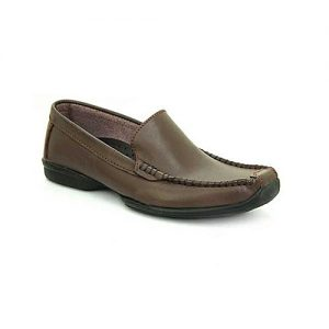 Bata Brown Leather PVC Close Casual Shoes For Men BS040