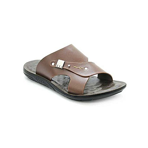 d32b388096b1 Bata Brown synthetic TPR Casual Slippers for Men BS001 - Menswear.pk