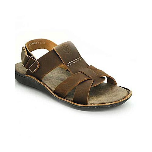 b7644d961052b Bata Weinbrenner Summer Brown PU Synthetic Sandals For Men BS069 ...