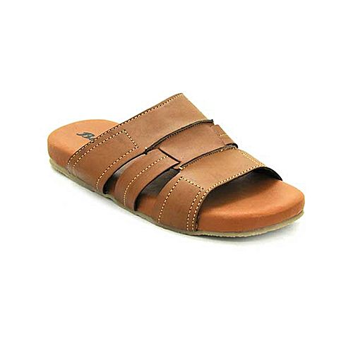 d5e77d7e7a34 Bata Weinbrenner Summer Brown PU Synthetic Sandals For Men BS074 ...