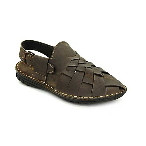 47f66ecc7a10 Bata Weinbrenner Summer Brown PU Synthetic Sandals For Men BS083 ...
