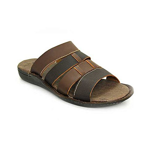 abc42cabfd653 Bata Weinbrenner Summer Brown PU Synthetic Sandals For Men BS157 ...