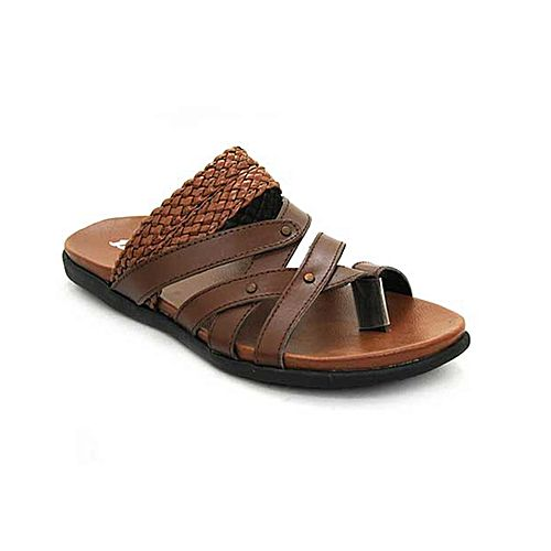 50fc439452fcb Bata Weinbrenner Summer Tan PU Synthetic Sandals For Men BS049 ...