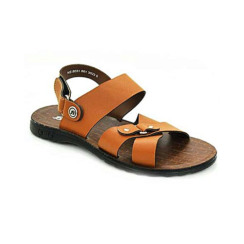 60a0661ea7ece Bata Weinbrenner Summer Tan PU Synthetic Sandals For Men BS086 ...