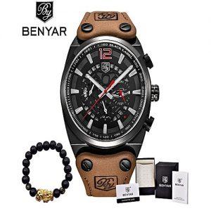 Benyar Brown Chronograph Sport Mens Watch for Men MW 55