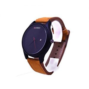 Curren Black Dial Brown Leather Strap Watch MW 150