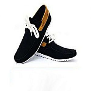 Daraz Shoes Brown Strap Stylish Black Sneaker for Men MS 197