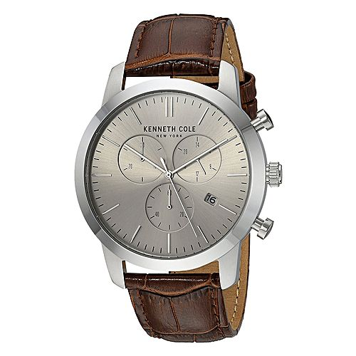 Kenneth Cole KC50053002 - Stainless Steel Wrist Watch for Men - Chronograph - Silver MW 406