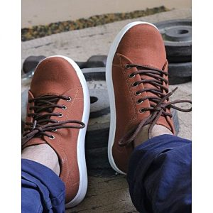 Khokhar Stockits Brown Canvas Stylish Sneakers For Men MS 369