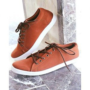 Mardan Shoes Brown Canvas Stylish Sneakers For Men MS 440