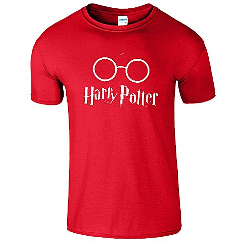 Onshoponline Red Cotton Printed Harry Potter T-Shirt OSO-02