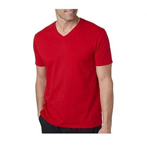 Onshoponline Red V-Neck Cotton T-Shirt For Men OSO-185