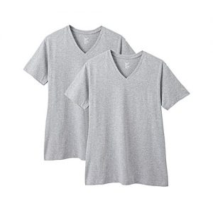 Royal Collection Pakistan Pack of 2 - Heather Grey Cotton T-Shirt For Men RCP 281