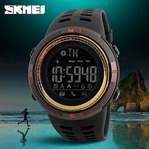 SKMEI Bluetooth Calorie Pedometer 50m Waterproof Digital Smart Sport Watch MW 763