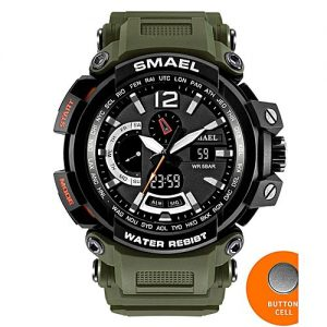Smael Military Army Sports Watch 1702 Military Green MW 796