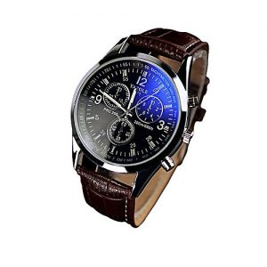 Solo Stainless Steel Mens Wrist Watch - Blue & Brown MW 803