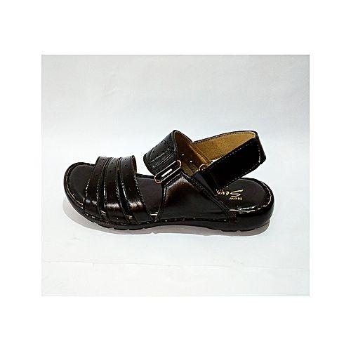 7b8394574 StepEZE Black New Synthetic Sandals For Men MS 723 - Menswear.pk