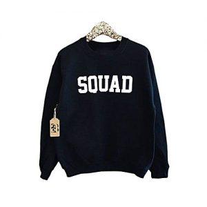 Styleo Blue Fleece Squad Printed Sweat-Shirt For Men S1804-02