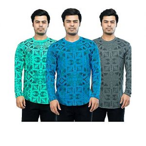 Styleo Pack of 3 Boxes Design Printed T-Shirts For Men S1804-121