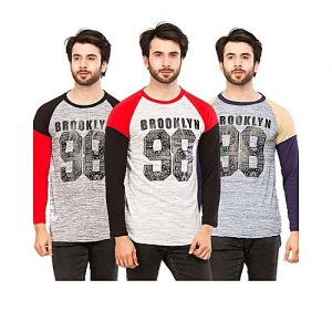 Styleo Pack Of 3 Brooklyn 98 Long Sleeves T-Shirts For Men S1804-55