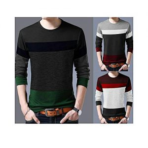 Styleo Pack Of 3 Multi Color Tone T-Shirts For Men S1804-106