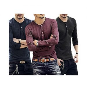 Styleo Pack Of 3 Pocket Button T-Shirts For Men S1804-53