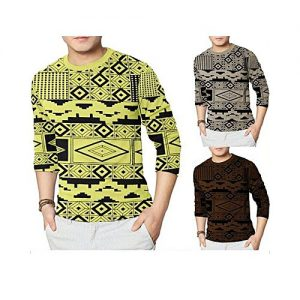 Styleo Pack Of 3 Round Neck Printed T-Shirts For Men S1804-189