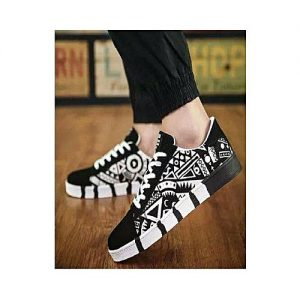 The smart shop Black Canvas Sneakers for Men MS 764
