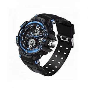 Tijarat online Black Silicone Chronograph Wrist Watch for Men MW 871
