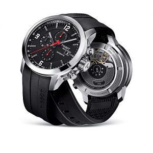 Tissot Black - Rubber - Quartz Chronograph Wrist Watch For Men - PRC 200 MW 865