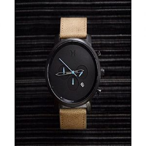 Wear Bank Black & Brown Stylish Watch For Men With Date MW 941