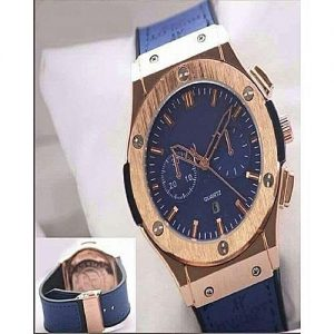 Wear Bank Blue Stainless Steel Chronograph Watch For Men MW 956
