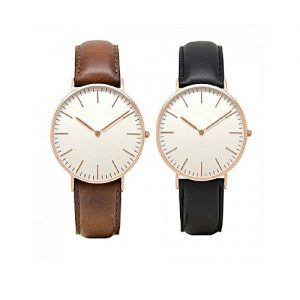 Wear Bank Pack Of 2 - Black & Brown Watches For Men MW 961