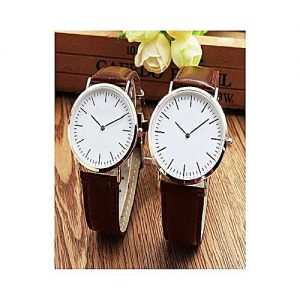 Wear Bank Pack Of 2 - Brown Leather - Pair Watches MW 967