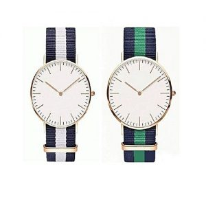 Wear Bank Pack Of 2 - Nylon Strap Watches For Men's MW 947