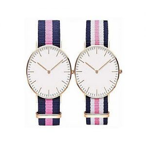 Wear Bank Pack Of 2 - Nylon Strap Watches For Men's MW 958