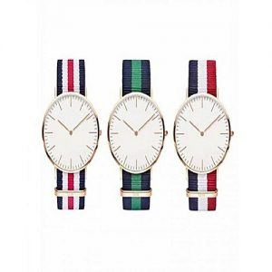 Wear Bank Pack Of 3 Multicolour Striped Strap Watch For Men's MW 954