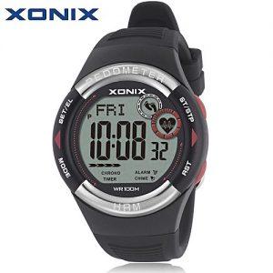 XONIX Pedometer Heart Rate Monitor Calories Bmi Waterproof 100m Digital Watch MW 978