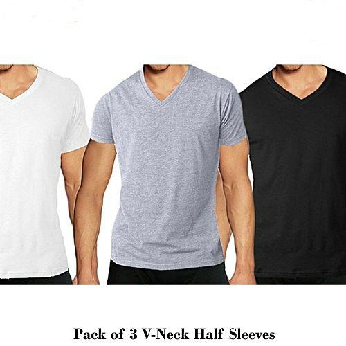 ef8964c5 Zewraat Pack Of 3 V-Neck Half Sleeves ZR287 - Menswear.pk