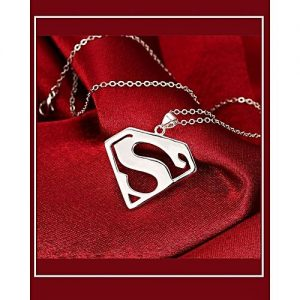 3D Metal Model Superman Pendant Necklace MA 425