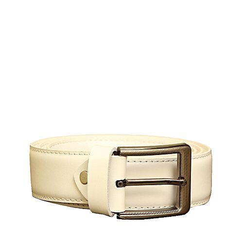 Arnast White Leather Belt for Men - GB-008 MA 179
