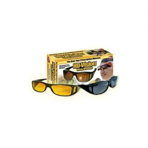 As seen on tv Pack Of 2 - Night & Day Hd Vision Glasses - Black & Yellow MA 659