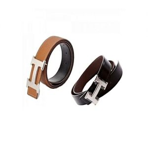 Aybeez Bundle of 2 Leather Belts For Men MA 181