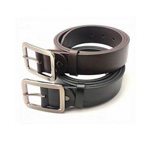 Aybeez Pack of 2 - Brown & Black Leather Belt for Men MA 139