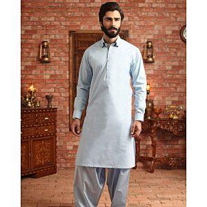 Bonanza Satrangi Blue 100% Egyptian Cotton Unstitched Fabric For Men