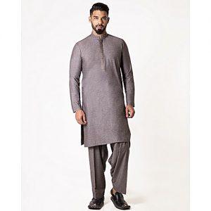 Bonanza Satrangi Versatile D-Gray Blended Men Unstitched 1 Piece Suit