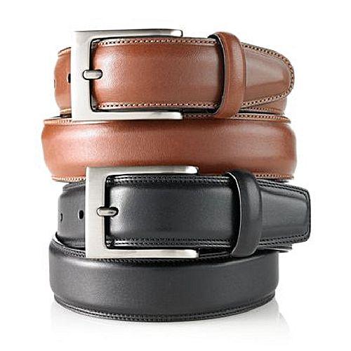 Deal Souk Pack of 2 - Leather Stitch Belt For Men MA 306